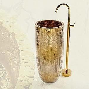 Rubinetto vasca da bagno rubinetti antico fondo solida in ottone ti pvd fai - Rubinetti bagno amazon ...