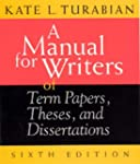 A Manual for Writers of Term Papers,...