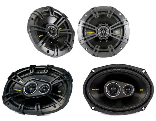 "2) New Kicker 40Cs44 4"" 300W 2-Way + 2) 6X9"" 450W 3-Way Car Coaxial Speakers"