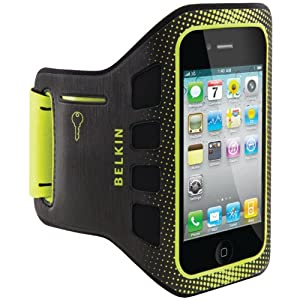 Belkin Easefit Sport Armband for Apple iPhone 4/4S (Black / Limelight)
