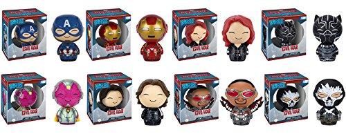 Dorbz: Captain America: Civil War Captain America, Iron Man, Black Widow, Black Panther, Falcon, Winter Soldier, CrossBones and Vision Vinyl Figures! Set of 8