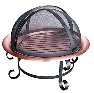 Landmann 28472 Scroll Series 30-Inch Copper Fire Pit with Spark Guard