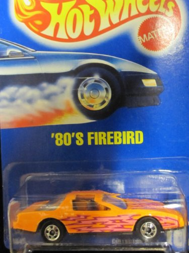'80's Firebird 1992 Hot Wheels #167 Orange with Basic Wheels on Solid Blue Card
