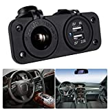 Car Chargers Best Deals - XCSOURCE 12V 2 Ports USB Car Charger Cigarette Lighter Socket Power Adapter Outlet MA372