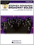 Sondheim Broadway Solos Violin Book/CD Play-Along (Hal Leonard Instrumental Play-Along)