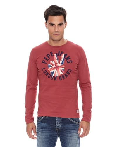 Pepe Jeans London Camiseta Harrison Rojo Medio