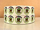 Kermit most wanted 25 mm 1 inch Grosgrain ribbon featuring I love Kermit great for hair bows - hair accessories baby girl cakes and other craft ideas sold by the yard