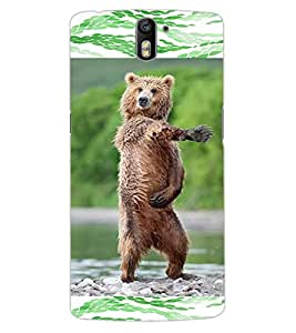ColourCraft Dancing Bear Design Back Case Cover for OnePlus One