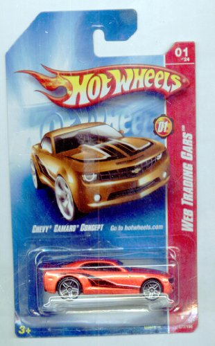 Hot Wheels 2008-077/196 Web Trading Cars 01/24 Chevy Camaro Concept 1:64 Scale - 1