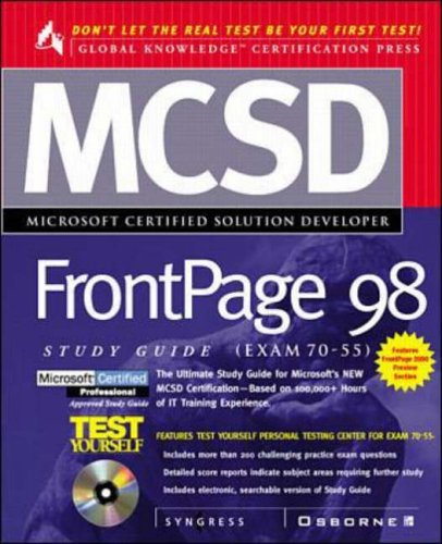 MCSD FrontPage 98 Study Guide (Exam 70-55)