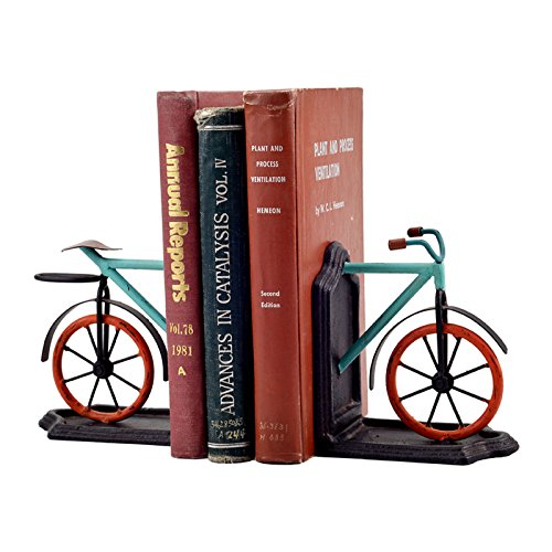 Set Of 2 Antique Vintage Bicycle Bike Cycle Cast Iron Metal Shelf Book Ends