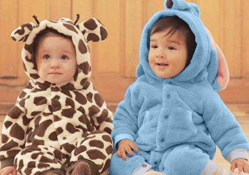 【ノーブランド品】子供用着ぐるみ 全2種類3サイズ 柔らかもこもこ素材 キリン 80サイズ
