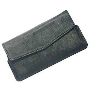 i-KitPit : PU Leather Flip Pouch Case Cover For Sony Xperia M2 Dual (BLACK)