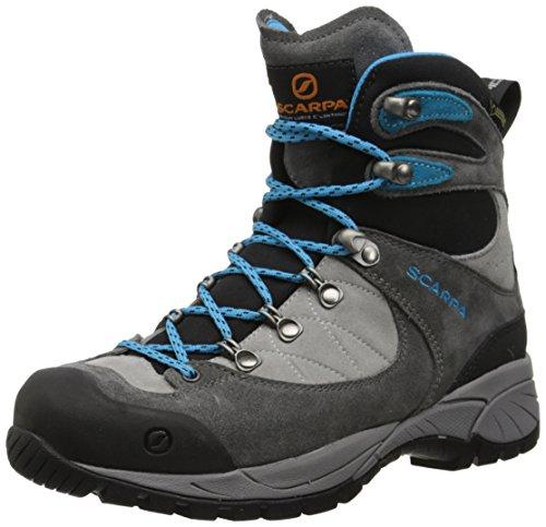 Scarpa Women's R-Evolution GTX Hiking Boot, Shark/Turquoise