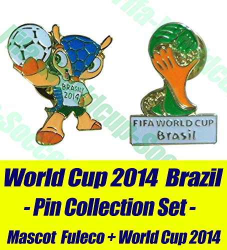 Fifa World Cup 2014 Brazil Memorial Pin Set (Champions Cup Trophy compare prices)