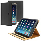 PrimeCases® Black Luxury Smart Pu Leather Case Cover For All New Apple iPad Air