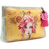 Papaya Art Love Who You Are Rose Oil Cloth Cosmetic or Accessory Travel Bag