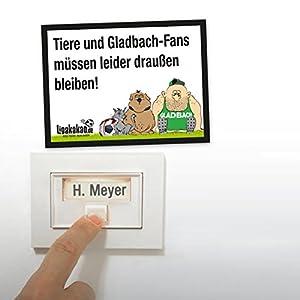 Anti-Gladbach-Klingelschild - Köln-, Leverkusen-, und alle Fußball-Fans aufgepasst. Witziges Geschenk für Freunde, Kollegen, Geburtstage und Partys - Klingelschilder, Büroschilder, Türschilder, Warnschilder, Hunde Verbotsschilder Zutrittsschild, Eing