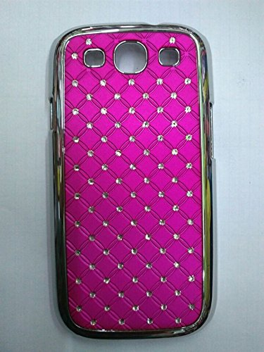 Maclogy 2014 Latest Fashion Design Luxury Dazzling Rhinestones Shiny Crystal Diamond Plating Protective Shell Trapped Difficult Cases Samsung Galaxy S3 I9300 And Fashion Chain Crystal Ornaments Color Uv Radiation Gifts (Rose)
