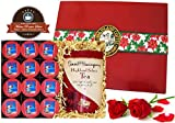 K-cup and Tea Gourmet Coffee Gift for Christmas, 12 K-cups of Organic Breakfast Blend and Gourmet Tea in Gift Presentation