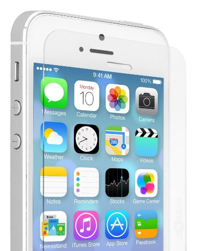 Voxkin Tempered Glass Screen Protector for iPhone 5S / 5 / 5C, Clear (Rhino Shield Bumper Iphone 5s compare prices)