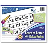 "Mead Learn to Letter with Raised Ruling Writing Tablet, 40 Sheets of 8"" x 10"", White (MEA48170-SN)"