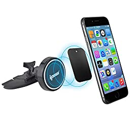 Car Mount, Ipow Universal Cd Slot Magnetic Phone Car Mount Holder Cradle for Any Cellphone with Any Phone Case - Fits Iphone 6 Plus Samsung Galaxy Note Nexus Lg Nokia Moto One plus HTC All Smartphone