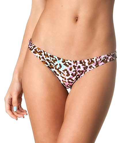 Coqueta Sweet Heart Brazilian Bikini Bottom Hipster Swimsuit PINKLEO-medium