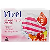 Vivel Mixed Fruit And Cream Soap, 100g (Pack Of 3)
