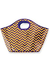 Mud Pie Game Day Cooler Tote Purple/Gold