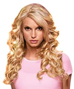 """hairdo from Jessica Simpson and Ken Paves 22"""" Clip-In Extension, Relaxed Curl, Golden Wheat"""