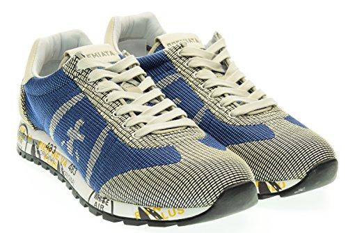 PREMIATA uomo sneakers basse LUCY 1527E 41 Blu-Beige