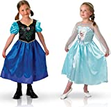 Disfraz duo Anna y Elsa Frozen niña