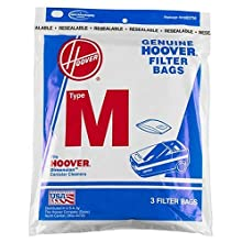 Hoover Vacuum Cleaner Bags, Type M - 3 ea