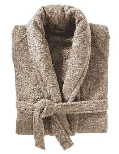 450 GSM Beige 100% Cotton Terry Towelling Bathrobe Bath Robe + Matching Belt - MEDIUM