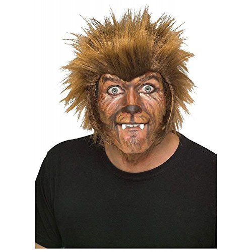 GSG Mens Werewolf Wig Adult Wolfman Halloween Fancy Dress Costume Accessory (Sexy Werewolf Costume)