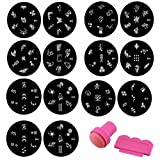 Hhe Nail Art Template 1 Set(10 Pcs) Stainless Steel Image Plates And Stamper Scraper Set Nail Polish Stamp Manicure Nail Tools