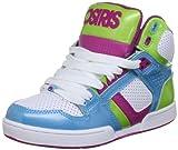 Osiris NYC 83 Slim Kids Shoes - Cyan Lime Berry - UK 2.5 (Toddler)