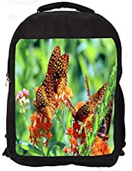 """Snoogg Abstract Multiple Butterflies Casual Laptop Backpak Fits All 15 - 15.6"""" Inch Laptops"""