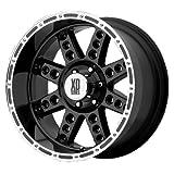 XD Series Diesel (Series XD766) Gloss Black Machined - 18 x 9 Inch Wheel