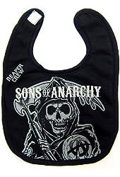 Sons of Anarchy Licensed Black Reaper Baby Bib