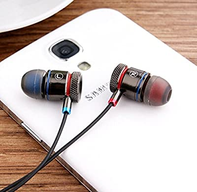 Super Bass Earbuds - Stereo Hi Fi Superior Bass with Premium Ear Tips - Model VS18 - Universal Earphones - For MP3's/iPods - All Apple iPhones - All Androids: HTC, Samsung, Google, Moto, LG, Sony & Windows Smartphones - Noise Reduction - For Active Sports