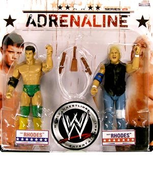 Buy Low Price Jakks Pacific World Wrestling Entertainment WWE Series 29 Adrenaline 2 Pack 7 Inch Action Figures – Cody Rhodes and Dusty Rhodes with Cowbell Saddle (B001DR0A9K)