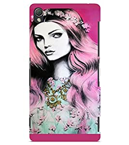 PrintVisa Beautiful Girl Art 3D Hard Polycarbonate Designer Back Case Cover for Sony Xperia Z3 Mini
