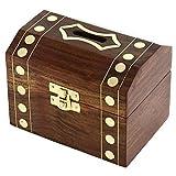 banque d'argent grande main en bois - tirelire de pièces de monnaie pour les enfants et les adultes en bois - décoration boîte tirelire - 7,6 x 12,7 x 7,6 cm...