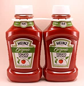 Heinz Organic Tomato Ketchup Twin Pack (2-44oz each bottle) by