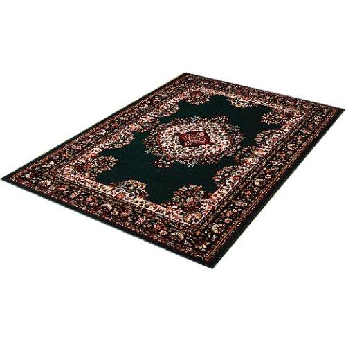 トルコ製ウィルトン織 ダイニングカーペット 6畳 グリーン(LF-026-G)