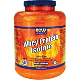 NOW Foods Whey Protein Isolate, 100% Pure 5Lb (Packaging May Vary)