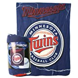 "Minnesota Twins ""Lightning"" Lightweight Fleece Blanket (Measures 50"" x 60"")"