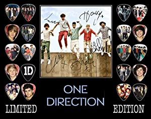 One Direction Signed Autographed Framed 500 Limited Edition Guitar Pick Set Display 2 from Autograph Arcade